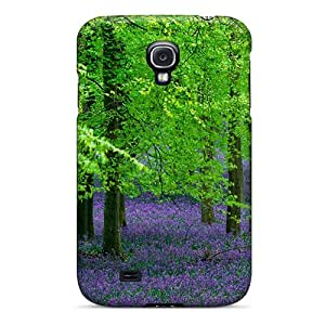 Cute High Quality Galaxy S4 Purple Grassl Case
