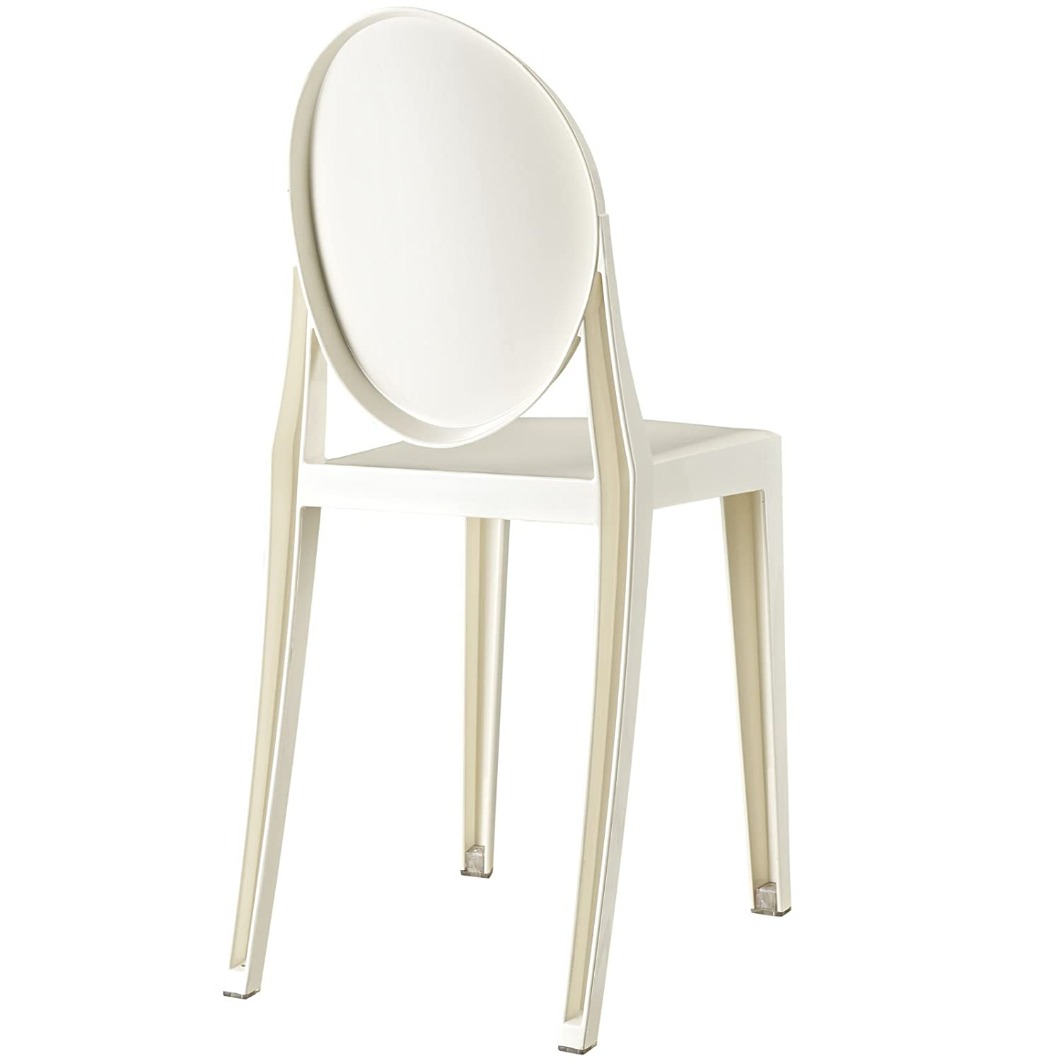 amazoncom  modway casper dining side chair in white  chairs -