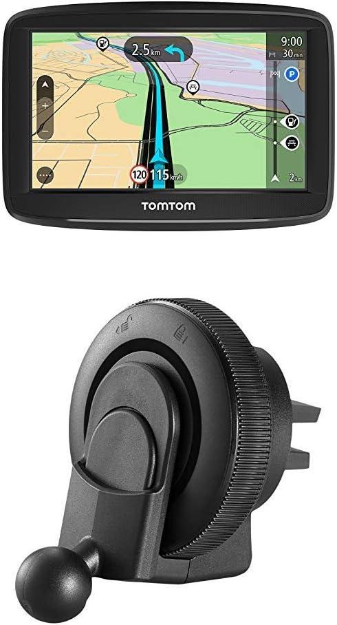 Tomtom Navigationsgerät Start 42 4 3 Zoll Karten Updates Europa Fahrspurassistent Tmc Tomtom Lüftungsschlitzhalterung Navigation