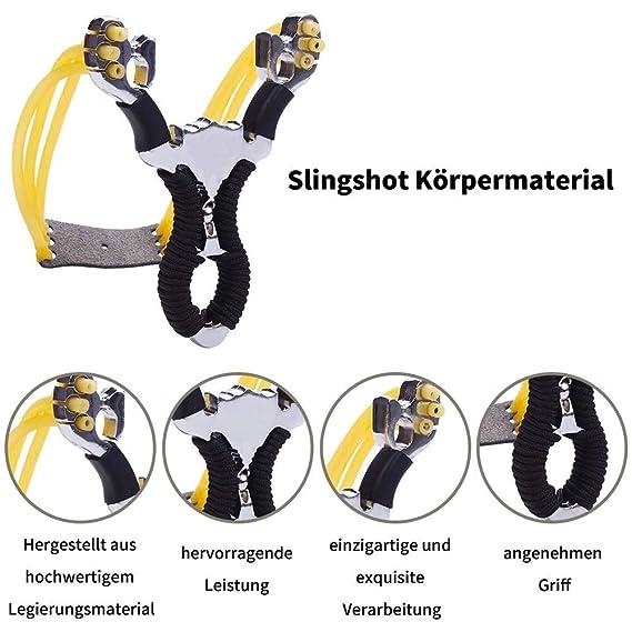 Stahl Schleuder Katapult Steinschleuder Zwille Katschi Sportschleuder ZoneYan Zwille Steinschleuder