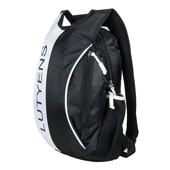 84adeb7a02 Lutyens Black White Smart School Bag