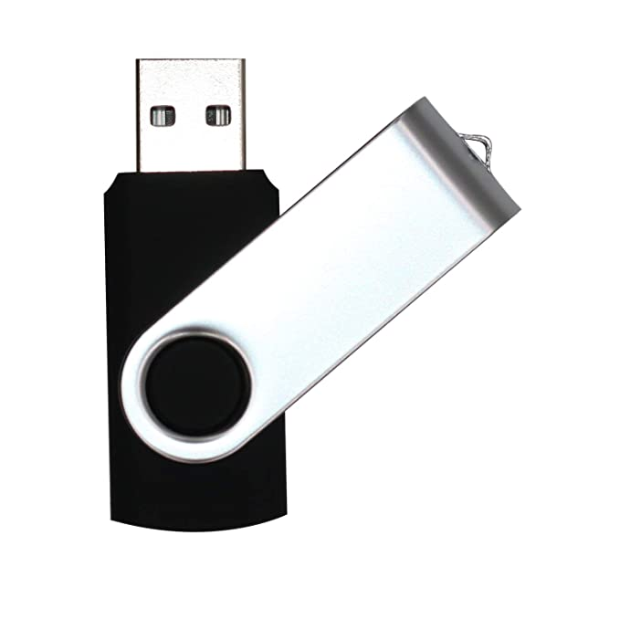 USB Flash Drive 32GB 2 Pack USB 2.0 Thumb Drive Jump Drive Bulk Memory Sticks Zip Drives Swivel Keychain Design, Black