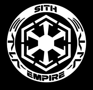 UR Impressions Sith Empire Decal Vinyl Sticker Graphics for Cars Trucks SUV Vans Walls Windows Laptop Tablet|White|5.5 Inch|JJURI002