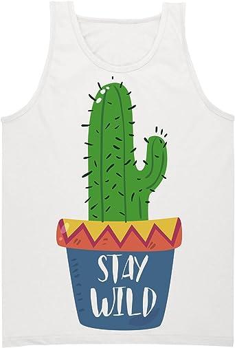 Stay Wild Adorable Hipster Cactus Camiseta sin Mangas para ...