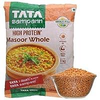 Tata Sampann Masoor Dal, Whole, 1kg