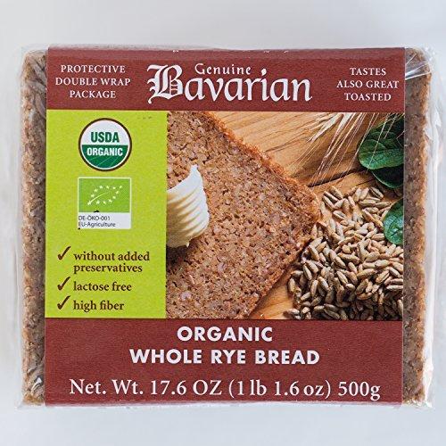 (Genuine Bavarian Organic Whole Rye Bread, 17.6 Ounce - 6 per case.)