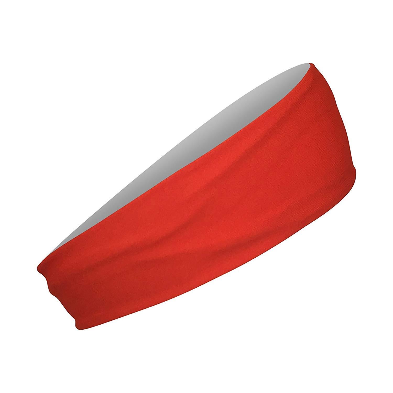Cooling Headbands Moisture Wicking Womens Sweatband & Sports Headband | Workouts Cardio Running Yoga (Construction Orange) by Bani Bands (Image #1)