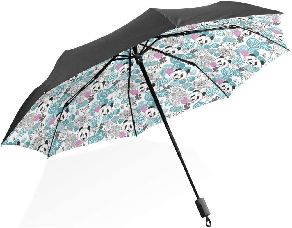 Transparent Umbrella Rain Sunny and Rainy Umbrella Parasol Thicken Three-folding Flower