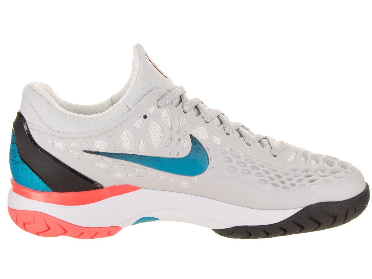 NIKE Women's Zoom Cage 3 Tennis Shoes B0761YJSTQ 9 B(M) US Pure Platimun/Blue Nebula/Black/Hot Lava