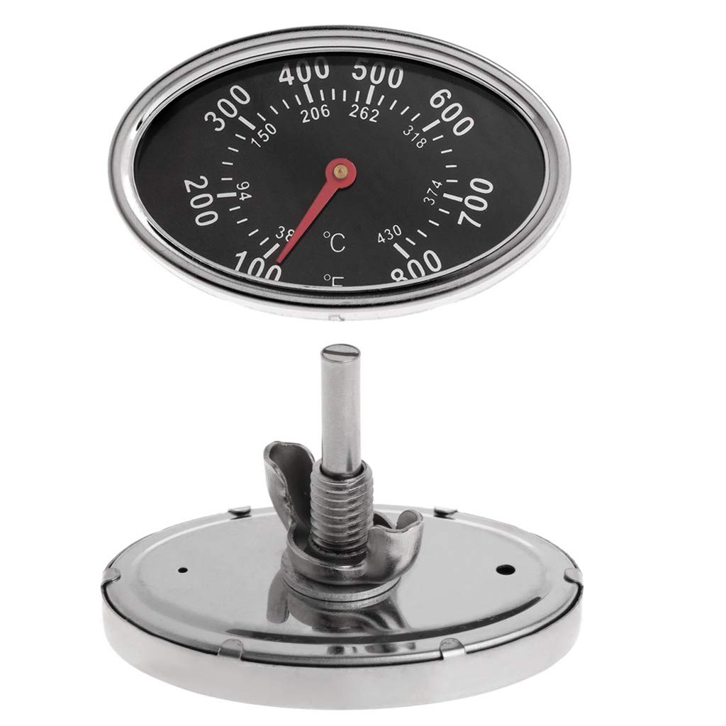 Yintiod 800 /°F Ovalado BBQ Pit Smoker Grill Term/ómetro Esfera Temperaturanzeige sustituci/ón