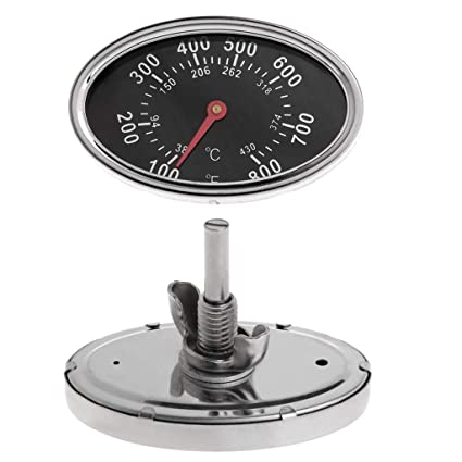 Fanst Temperature Tester,800? Oval BBQ Pit Smoker Grill Thermometer Dial Temperature Gauge Replacement