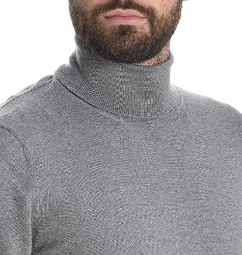 Fay Herren NMMC1332440CQTB207 Grau Wolle Sweater