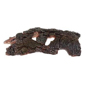FLAMEER Tronco Árbol Corteza Acuario Reptil Accesorios Herramineta Fácil Instalación de Pecera Elegante: Amazon.es: Productos para mascotas
