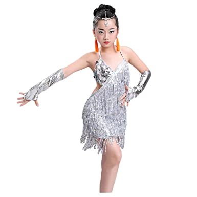 official photos 7b579 1596f Meijunter Gonna da Ballo Latina - Fionda Nappa Lustrino Vestito da Ballo  Salsa Samba Rumba Tango Jazz Outfits Carnevale Prestazione Costumes