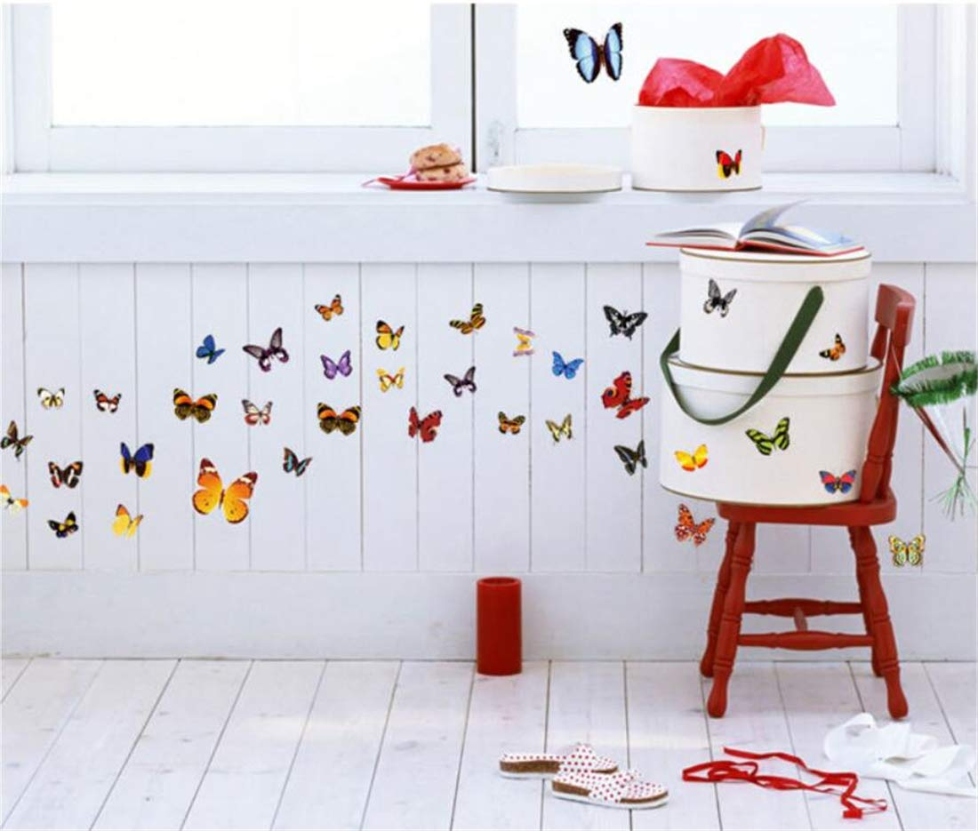 Tmrow 1PC 3D Butterfly Removable Mural Stickers Wall Stickers Decal Wall Decor for Home and Room Decoration