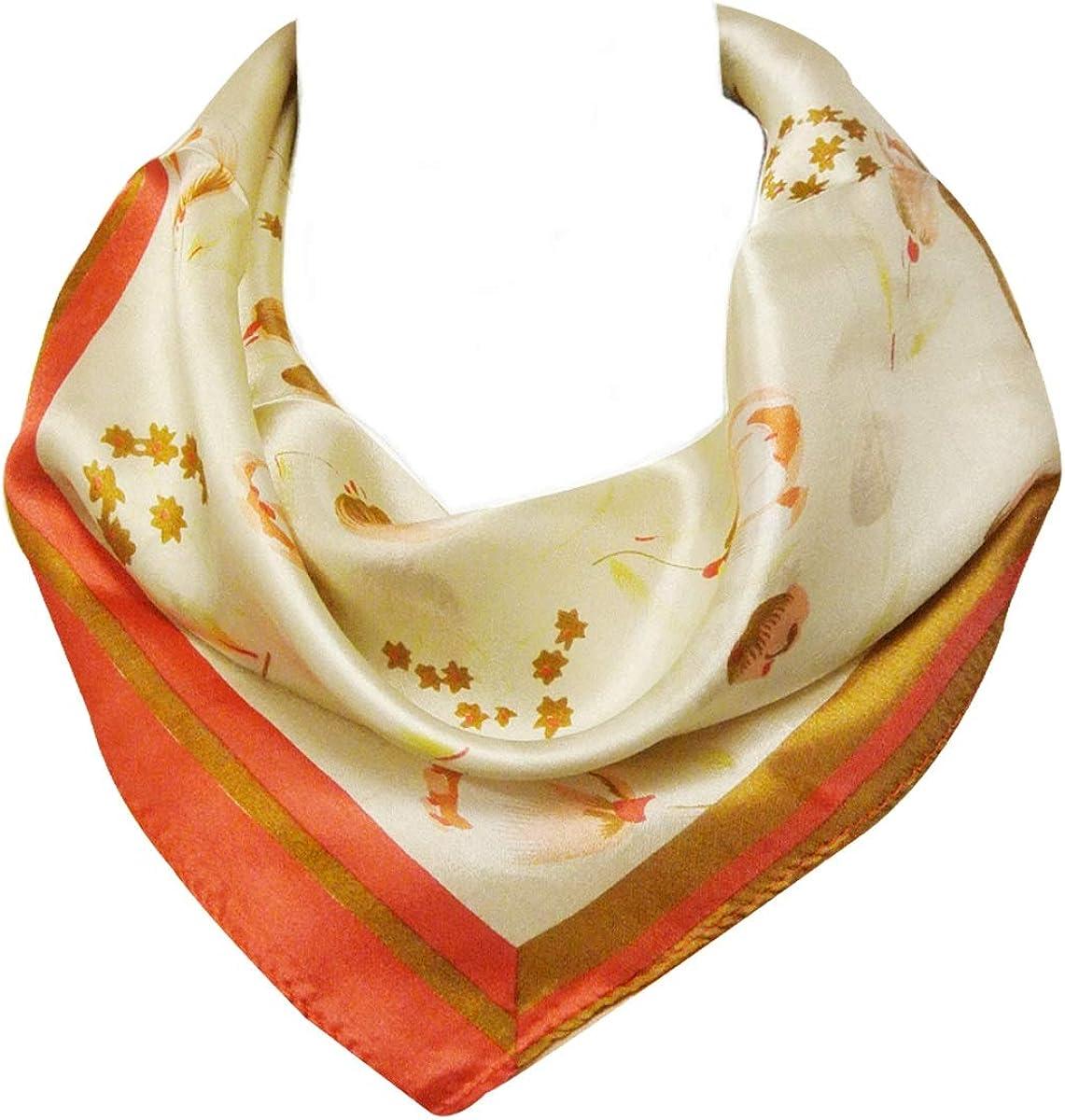 Women Elegant Silk Square Scarf Small Plain Neckerchief Soft Head Neck HeadbaD/_X