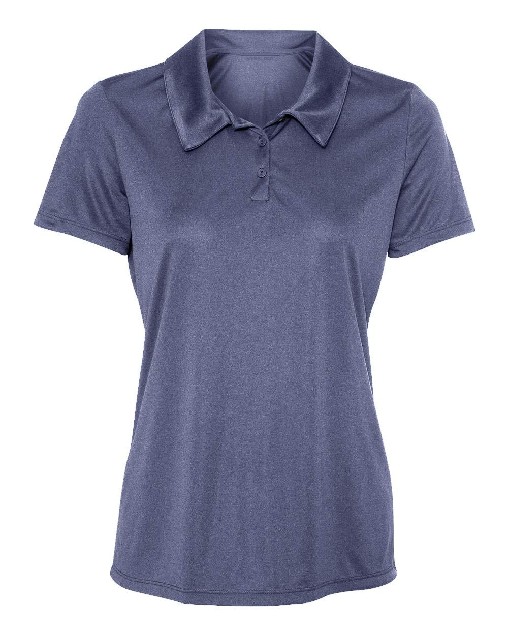 Animal Den Women's Dry-Fit Golf Polo Shirts 3-Button Golf Polo's in 20 Colors XS-3XL Shirt NV/HTH-XS