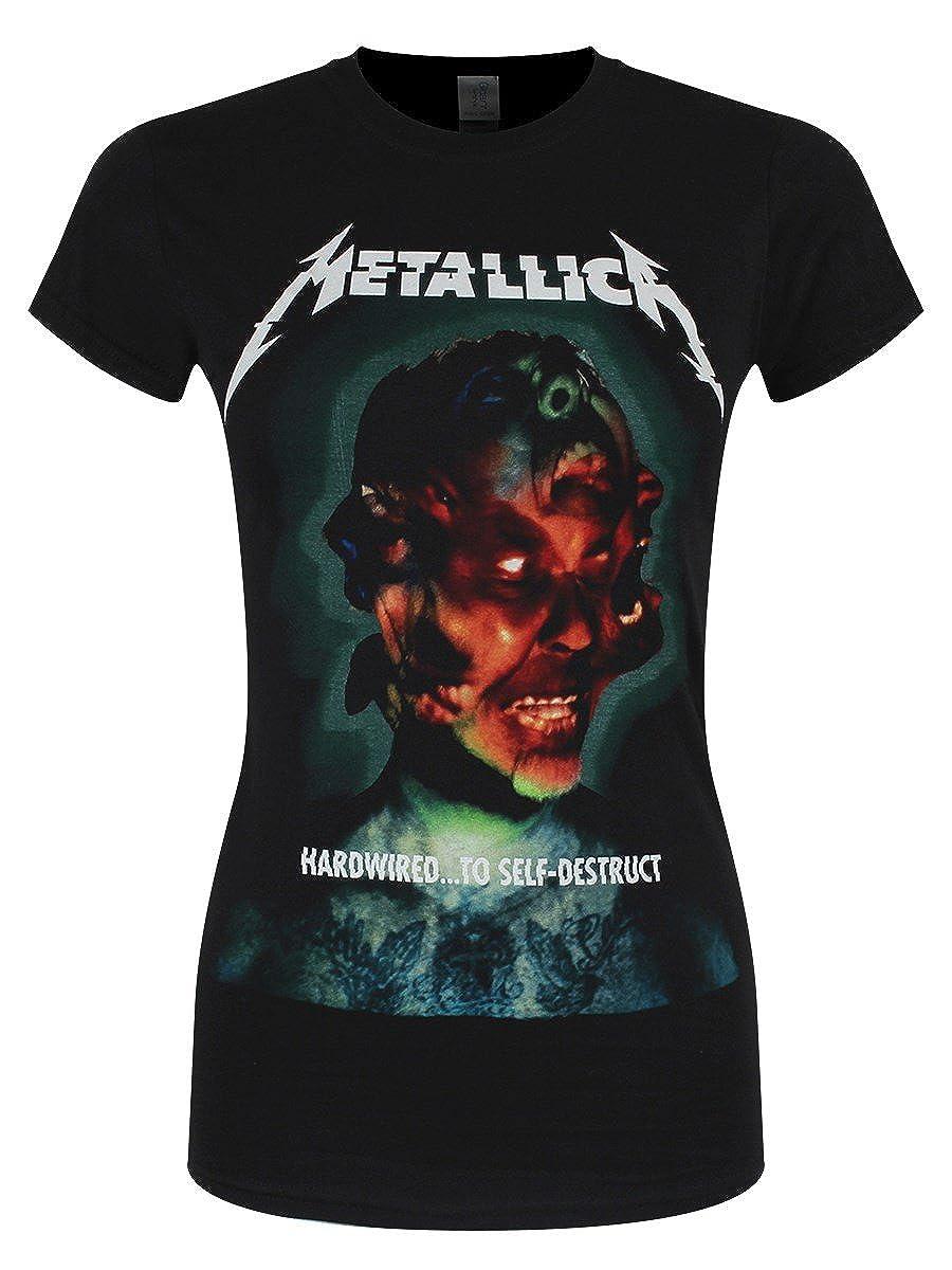 Metallica Hardwired Self-Destruct Camiseta Mujer Negro