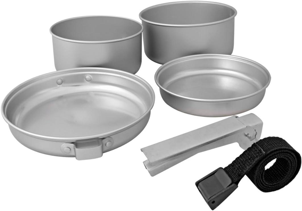 Milestone Camping Batterie de Cuisine en Aluminium Argent/é Pack de/5