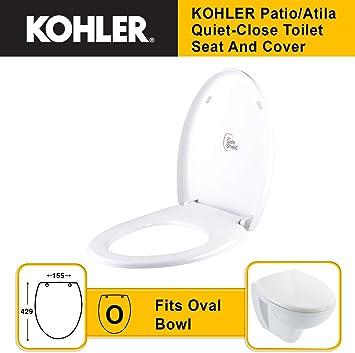 Fantastic Kohler Patio Atila 10614In 0 Quiet Close Toilet Seat And Cover Machost Co Dining Chair Design Ideas Machostcouk