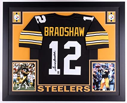 Image Unavailable. Image not available for. Color  Terry Bradshaw Signed  Steelers 35x43 Custom Framed Jersey (JSA COA) f57cfe961