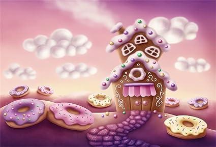 Amazon Ofila Fantasy Gingerbread House Backdrop 5x3ft Sweet