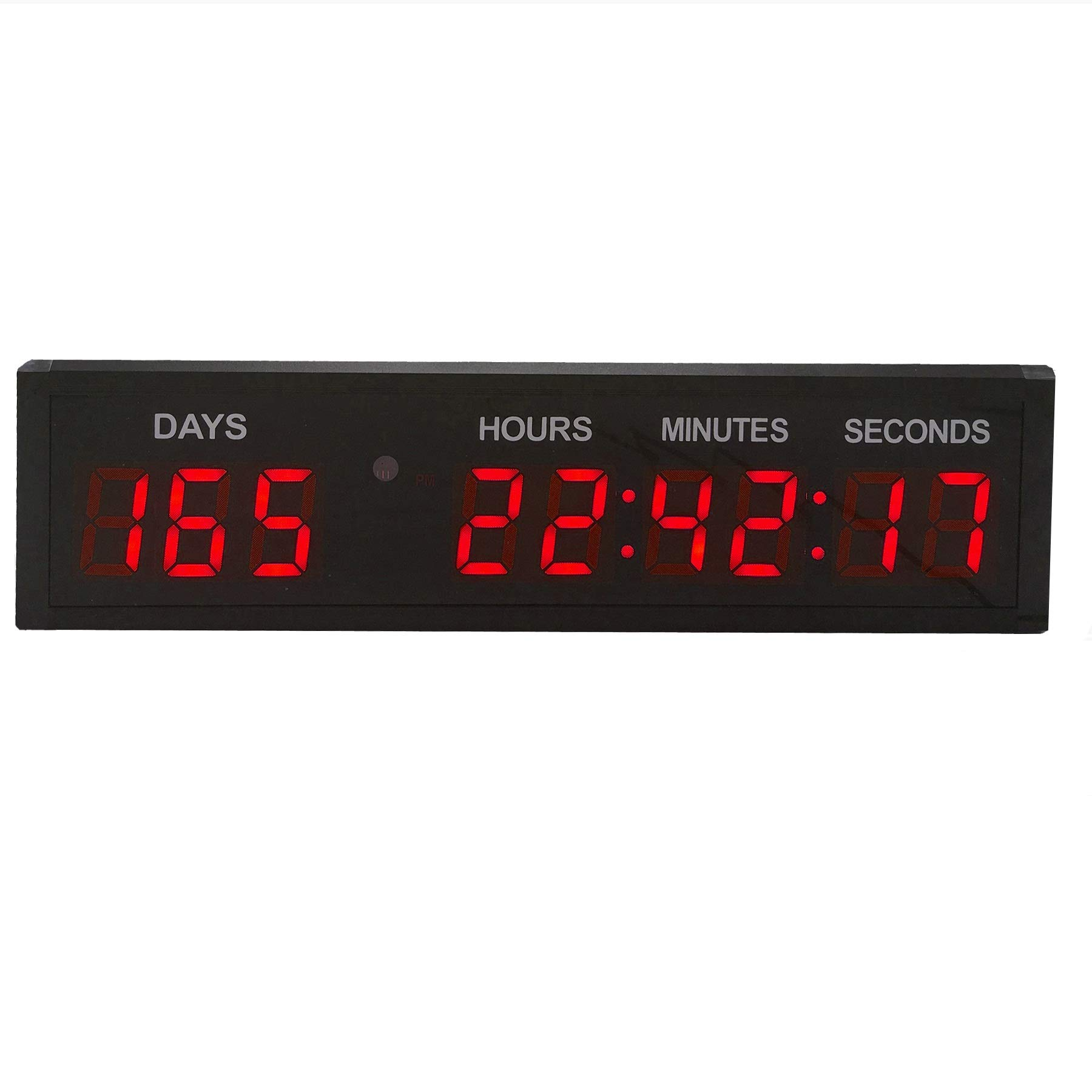N// A 2.3 Inch 6 Digital Led Countdown Timer Stopwatch Wall Clock for Gym Fitness Home
