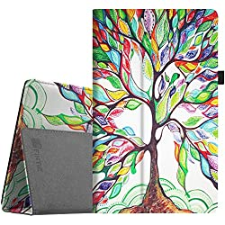 """Fintie Folio Case for All-New Amazon Fire HD 10 Tablet (7th Generation, 2017 Release) - Premium PU Leather Slim Fit Smart Stand Cover with Auto Wake / Sleep for Fire HD 10.1"""" Tablet, Love Tree"""