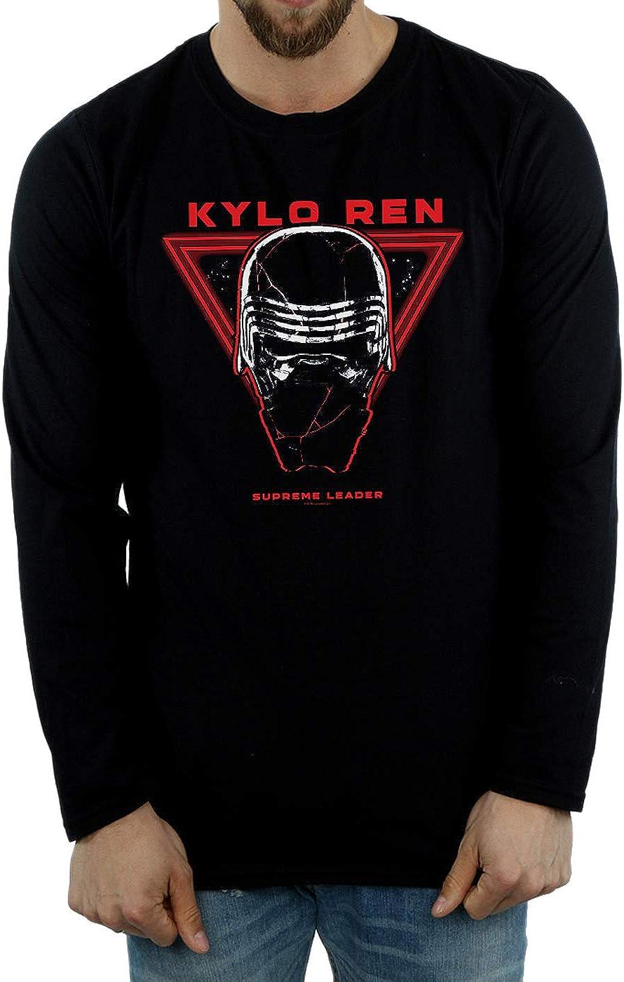 Star Wars Hombre The Rise of Skywalker Supreme Leader Kylo REN Camiseta De Manga Larga