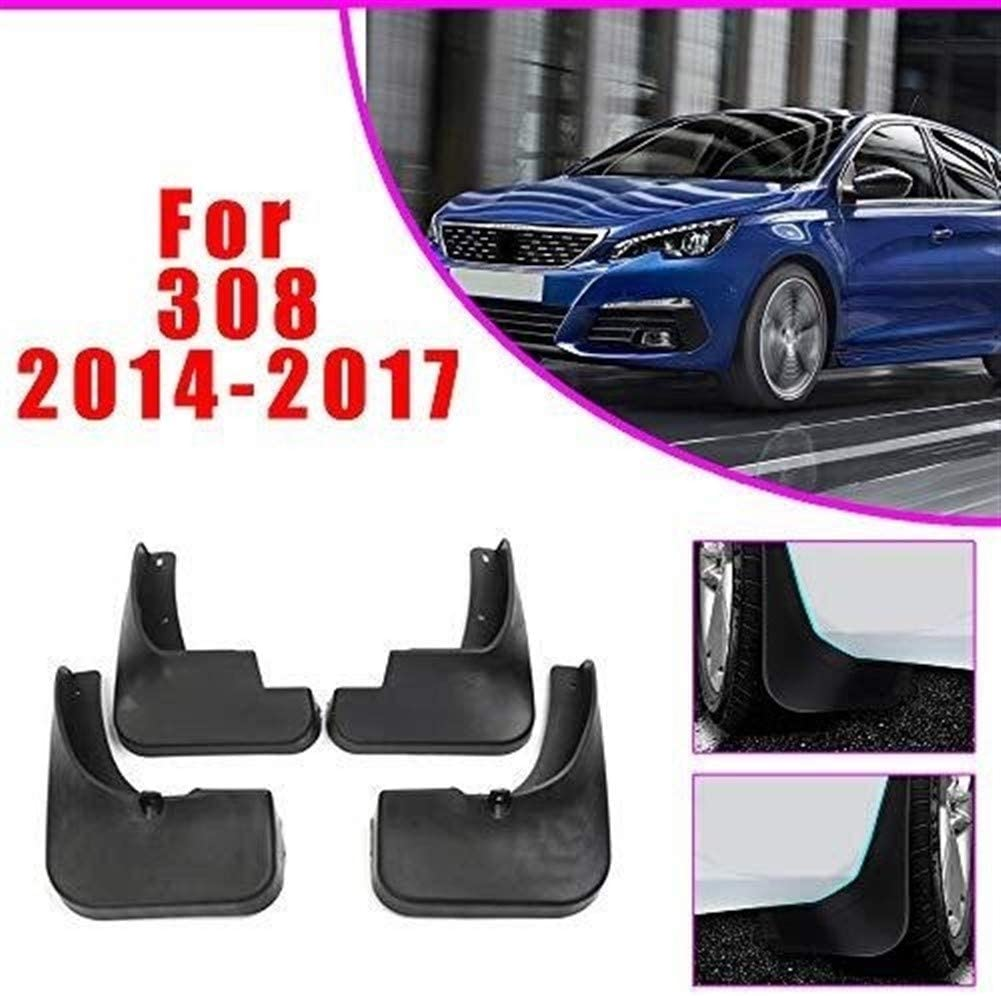 LTGJJ Front And Rear Mud Guards,Car Mud Flaps Splash Guards Kits Car Accessories Car Fender Styling For PEU-GEOT 308 2012-2017