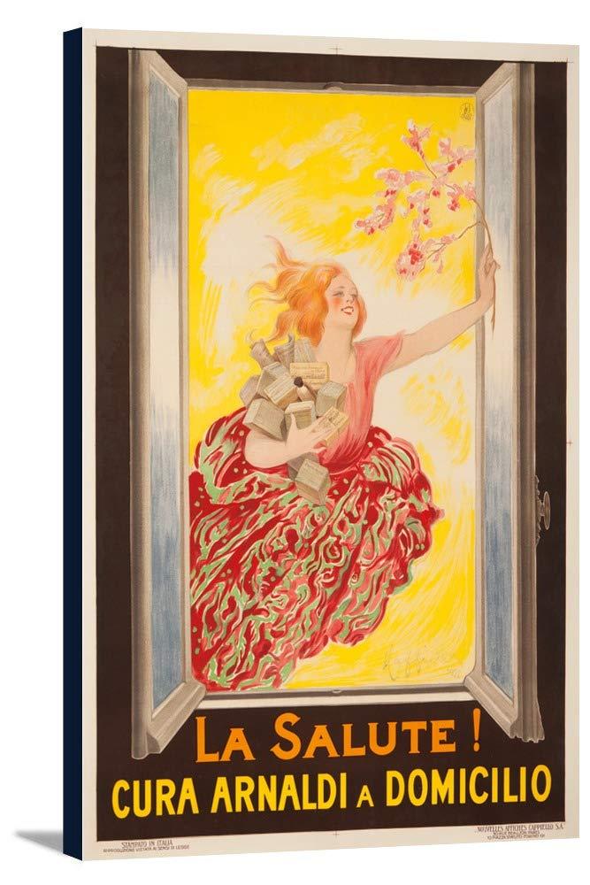La Salute 。ヴィンテージポスター(アーティスト: Leonetto CappielloフランスC。1922 24 x 36 Gallery Canvas LANT-3P-SC-60251-24x36 24 x 36 Gallery Canvas  B0184B5RH2