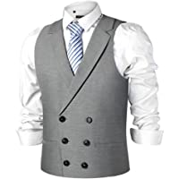 Men Wedding Waistcoat Gentleman Skinny Dress Classic Formal Vest V Neck Sleeveless Jacket Double Breasted Suit Unique Advanced Custom Tank Top Designed