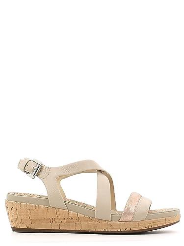 Geox D ABBIE Brun clair - Chaussures Sandale Femme
