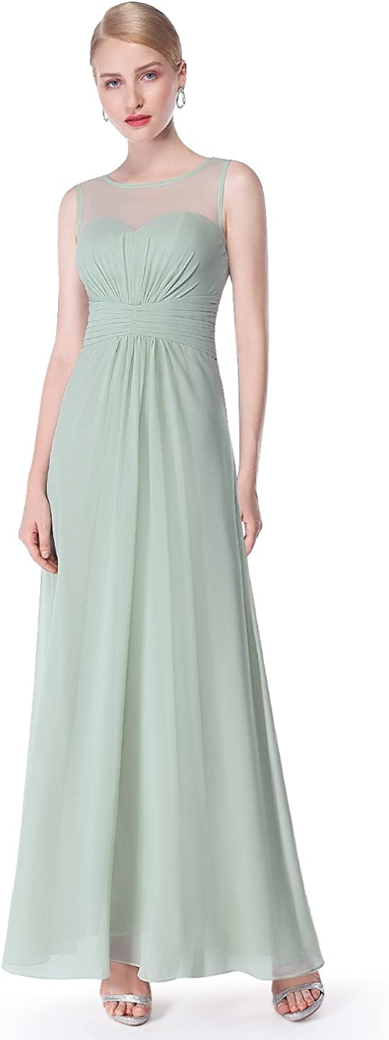 Ever-Pretty Damen Elegant Lang Abendkleid Brautjungfernkleid Maxikleider 08761