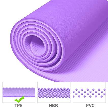 Colchoneta de Yoga, TOODA Esterilla para Pilates TPE ...