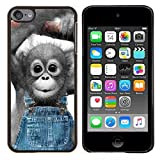 King Case - FOR Apple iPod Touch 6 6th Generation - Monkey Cute Animal - Designed Hard Plastic Protective Case