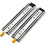 AOLISHENG Heavy Duty Drawer Slides 60 Inch with Lock Full Extension Ball Bearing Drawer Side Heavy Duty Drawer Side 250 lb Lo