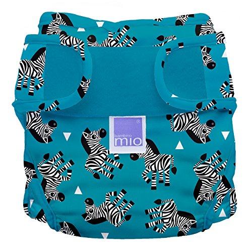 Bambino Mio, Miosoft Cloth Diaper Cover, Zebra Crossing, Size 2 (21lbs+) ()