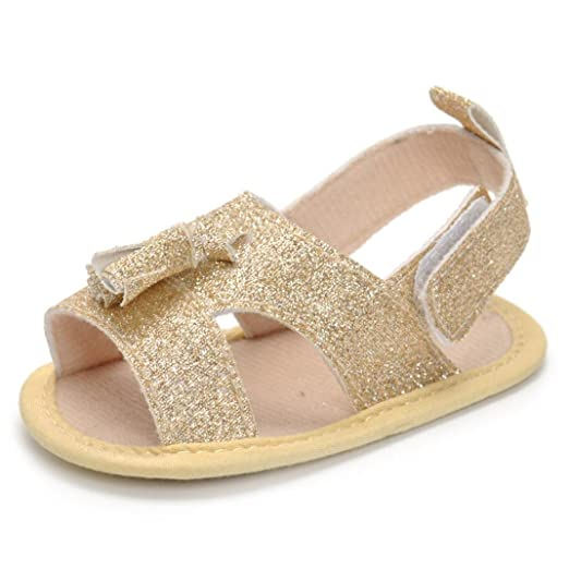 6988bdfa49787 Amazon.com  KONFA Toddler Infant Baby Girls Summer Bling Casual ...