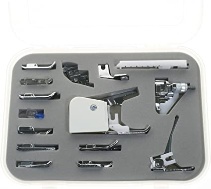Singer Riccar Pfaff Kenmore BIGTEDDY 15pc Domestic Sewing Machine Snap-On Presser Walking Foot Kit For Brother Babylock Necchi Janome