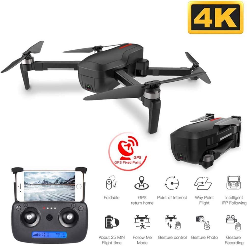 4Kライブビデオカメラ、大人や初心者のためのRCクワッドローター、4K HDカメラのジェスチャーコントロール折り畳み式RC、高度ホールド、フォローミーとPotensic GPS FPVドローン