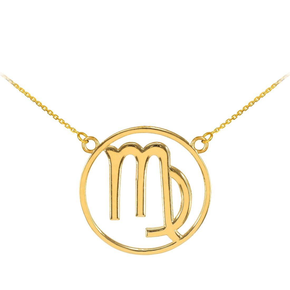 LA BLINGZ Sterling Silver Open Design Aries zodiac Sign Charm Necklace