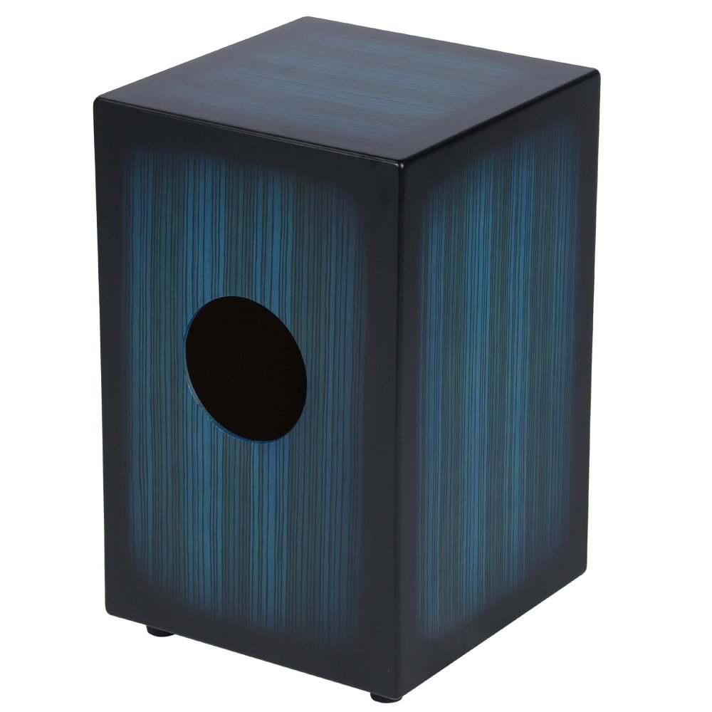 ammoon Wooden Cajon Hand Drum Children Box Drum Persussion Instrument with Stings Rubber Feet 23 * 24 * 37cm 1