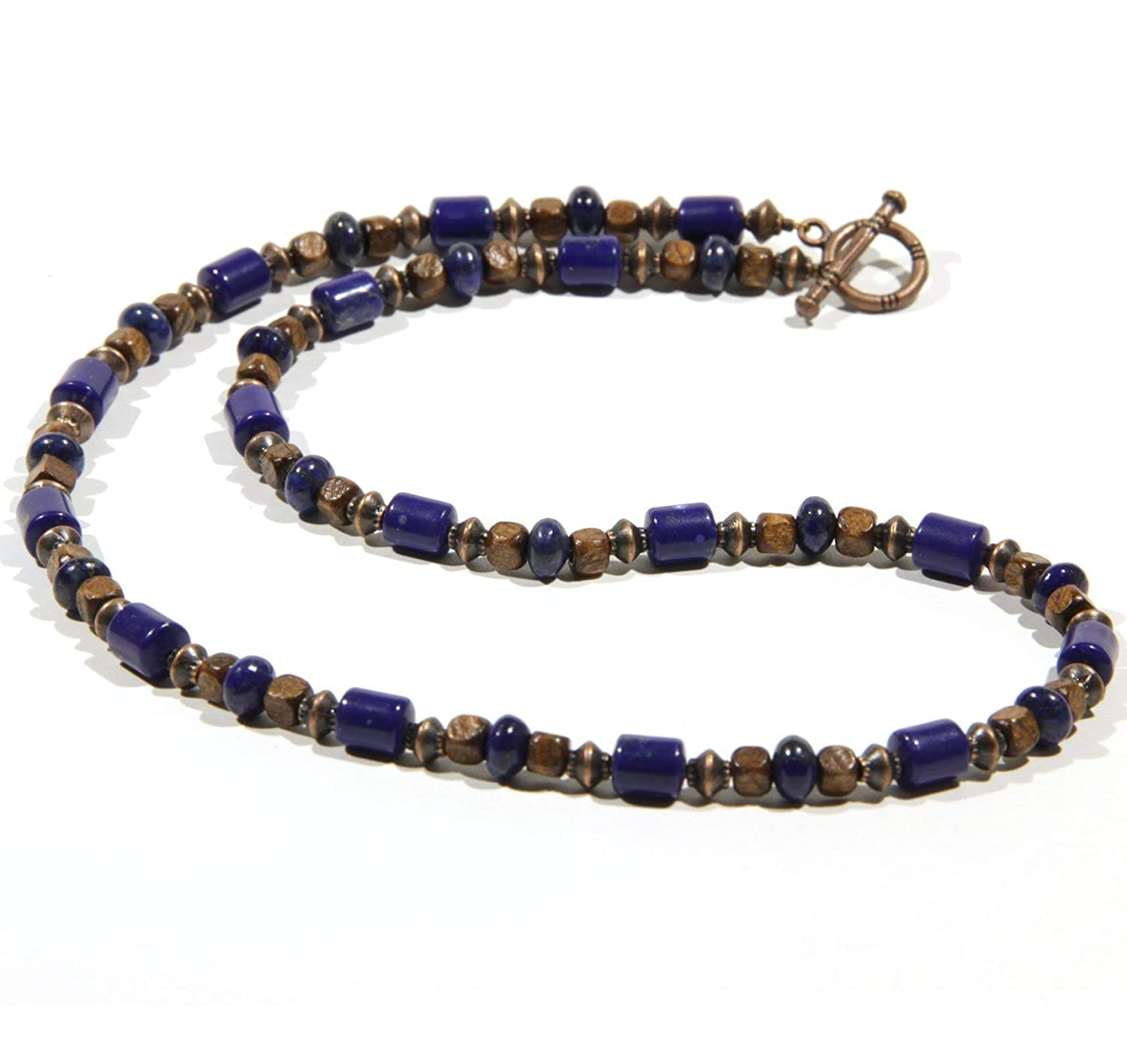 Necklace CHNA06-19 Lapis Choker for Men and Women