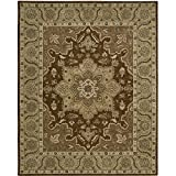Nourison India House (IH66) Chocolate Rectangle Area Rug, 8-Feet by 10-Feet 6-Inches (8' x 10'6'')