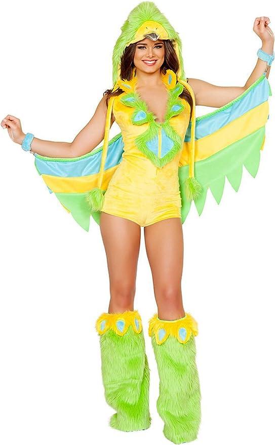 lancoszp Disfraz de Pajaro Verde para Mujer Disfraz de Loro de ...
