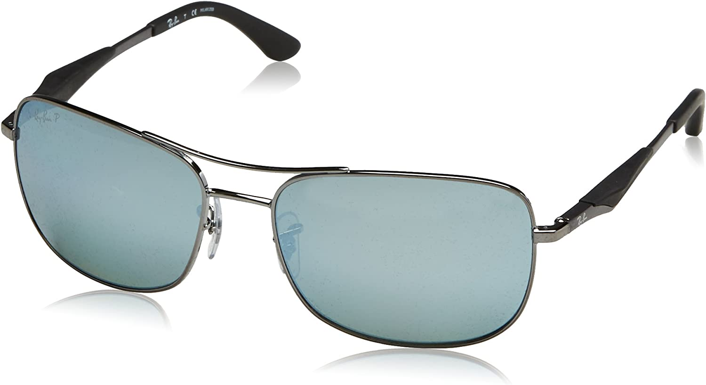 RAY-BAN RB 3515 Gafas de Sol, Gunmetal, 61 para Hombre