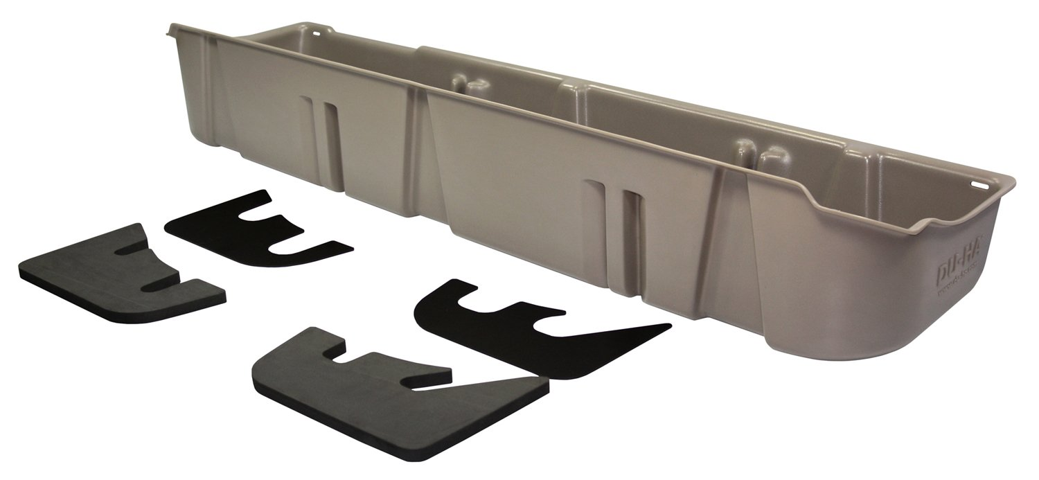 DU-HA Under Seat Storage Fits 09-10 Ford F-150 SuperCrew without Subwoofer, Gray, Part #20076 by DU-HA