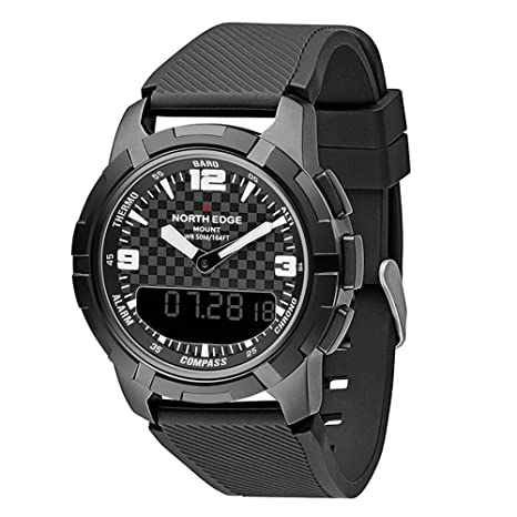 RENYAYA North Edge Reloj Deportivo, Relojes Inteligentes Reloj Impermeable 50m Pesca altímetro barómetro termómetro brújula