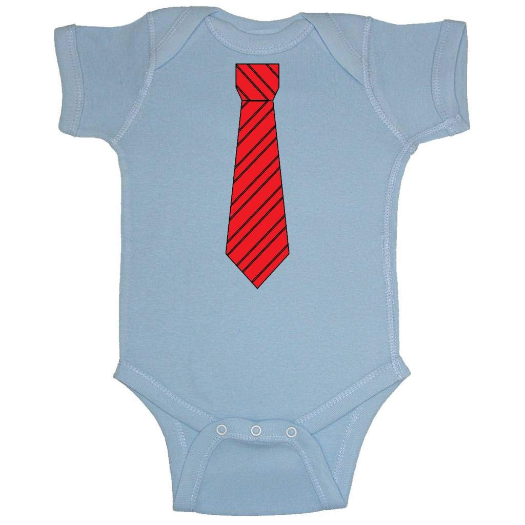 d81cc69db Amazon.com: Two In Love! Red/Black Striped Neck Tie Baby Bodysuit (Light  Blue, 6 Months): Infant And Toddler Bodysuits: Clothing